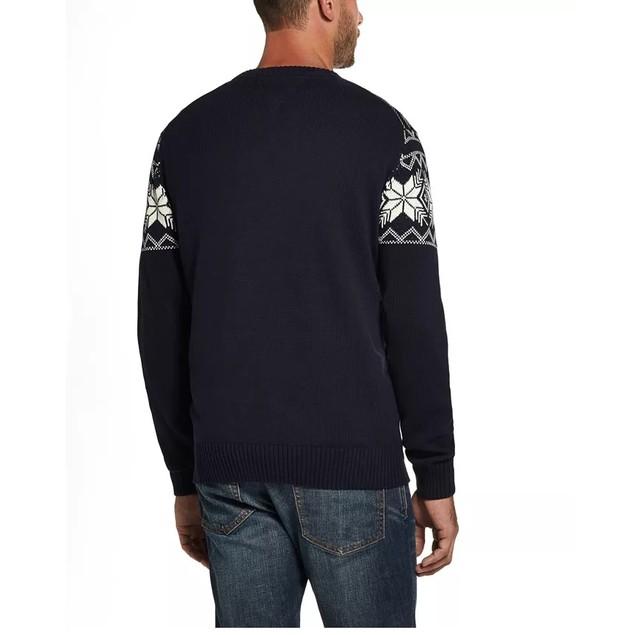 Weatherproof Vintage Men's Snowflake Pattern Sweater Navy Size Extra Large