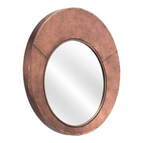 Offex Roderick Living Room Decorative Modern Wall Mirror - Copper