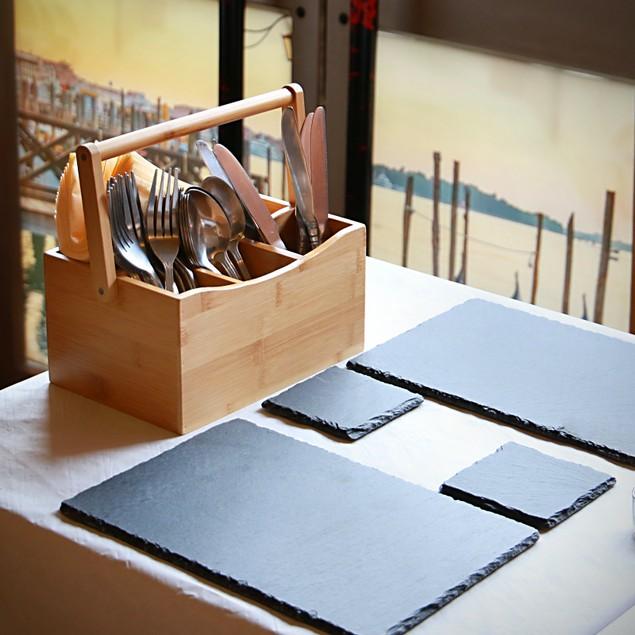 Bamboo Utensil Cutlery Holder | MandW