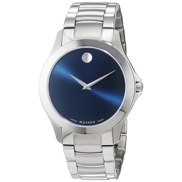 Movado Men's Masino Blue Dial Watch - 607033
