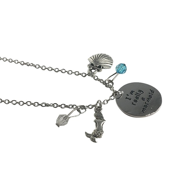 I'm Really A Mermaid Charm Necklace