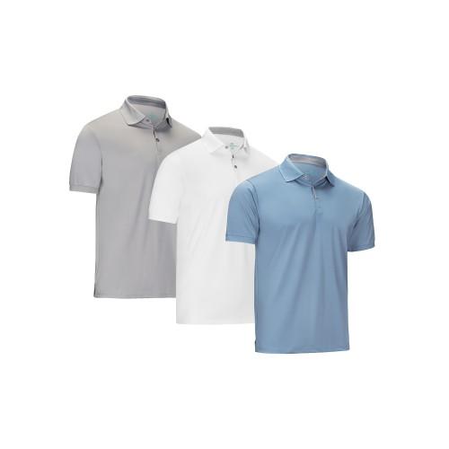 3-Pack Designer Golf Polo Shirt