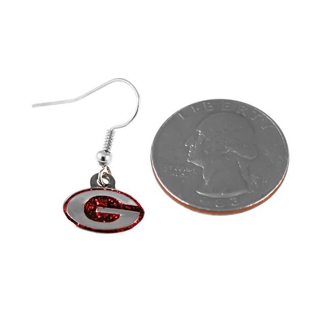 Georgia Bulldogs  Sparkle Dangle Logo Earring Charm Set