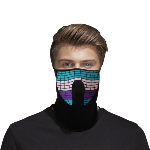 Sound Activated Light-up LED Facemask- Multiple Styles