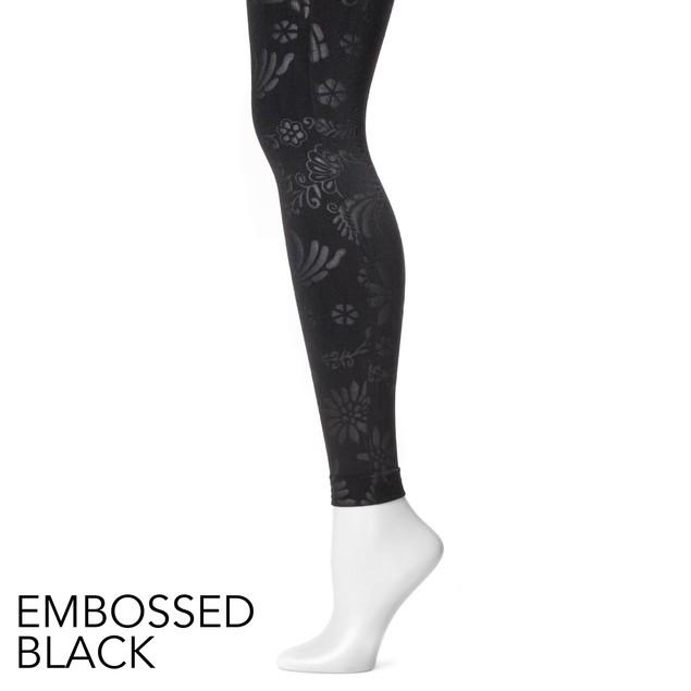 MUK LUKS ® Women's Embossed Fleece-Lined Leggings