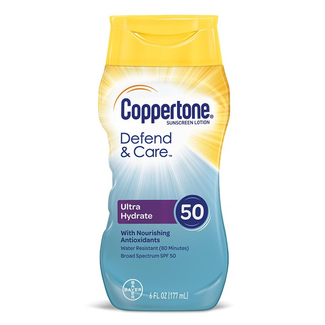 6-Pack Coppertone Defend and Care Ultra Hydrate Sunscreen Lotion