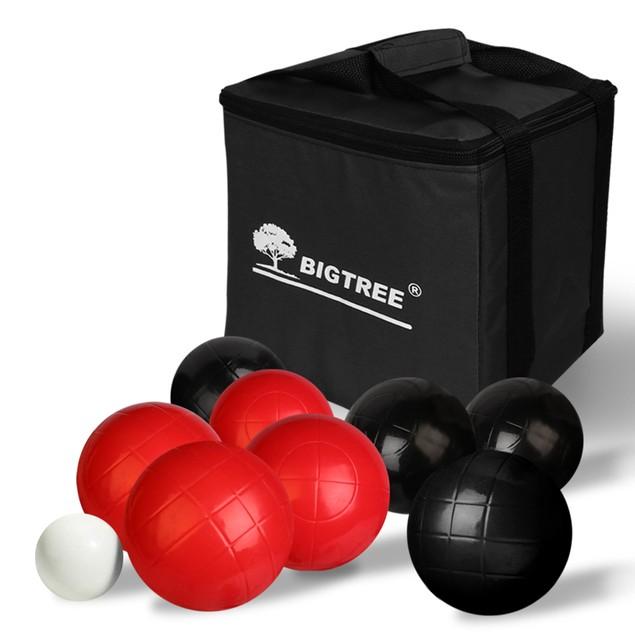 Bigtree Bocce Ball Backyard Family Fun Hefty Balanced Durable Carry Case Game Set