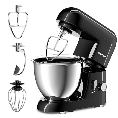 Costway Electric Food Stand Mixer 6 Speed 4.3Qt 550W Tilt-Head Stainless St