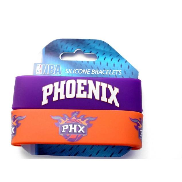 Phoenix Suns Rubber Wrist Band (Set of 2) NBA