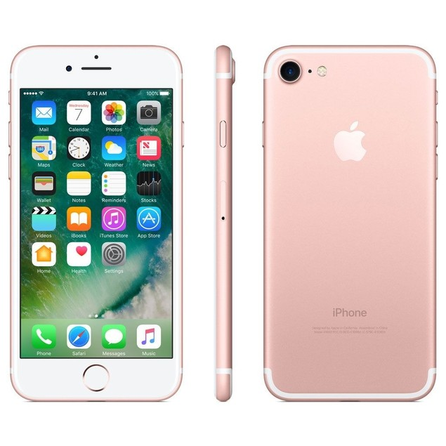 "Apple iPhone 7 128GB 4.7"" AT&T Only, Rose Gold (Refurbished)"