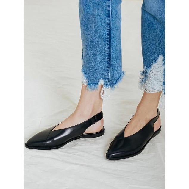 St. AGNI Women's Lita Loafer Slide Black Size 36