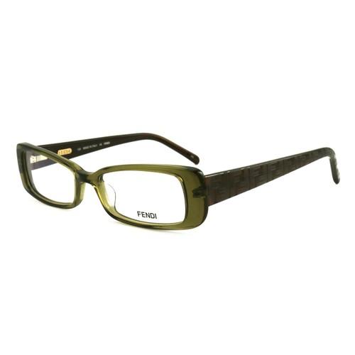 Fendi Women Eyeglasses FF906 318 Olive Green 49 16 135 Full Rim Rectangle