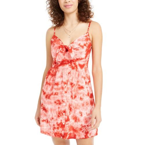 Planet Gold Juniors' Tie-Dye Dress Rosa Size Small
