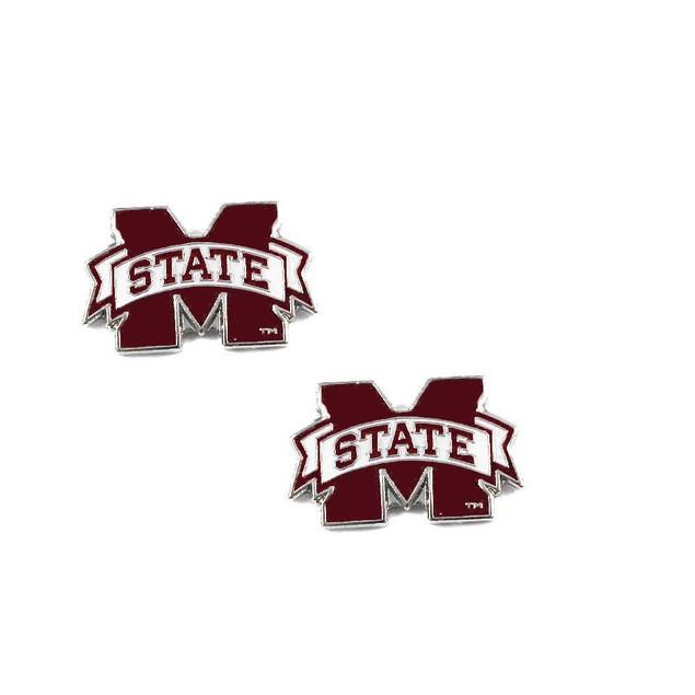 Mississippi State Bulldogs Post Stud Logo Earring Set Charm Gift
