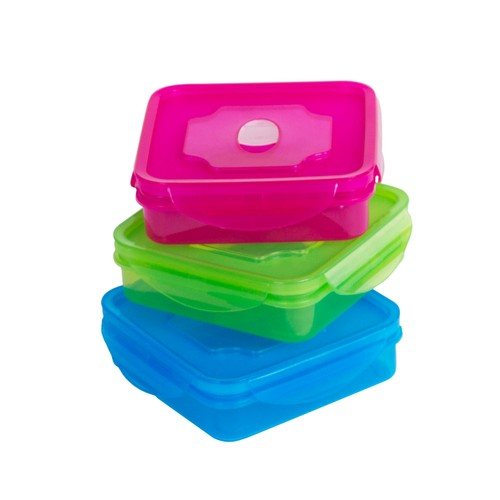 6 Piece Meal Prep Lunch Box Sanwich Bento Box Lunch Container w/Vented Lids