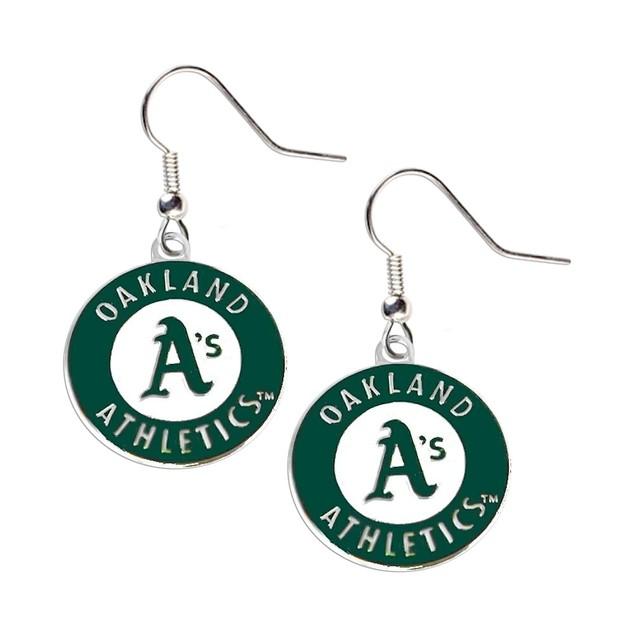 Oakland Athletics MLB Dangle Logo Charm Earring Set