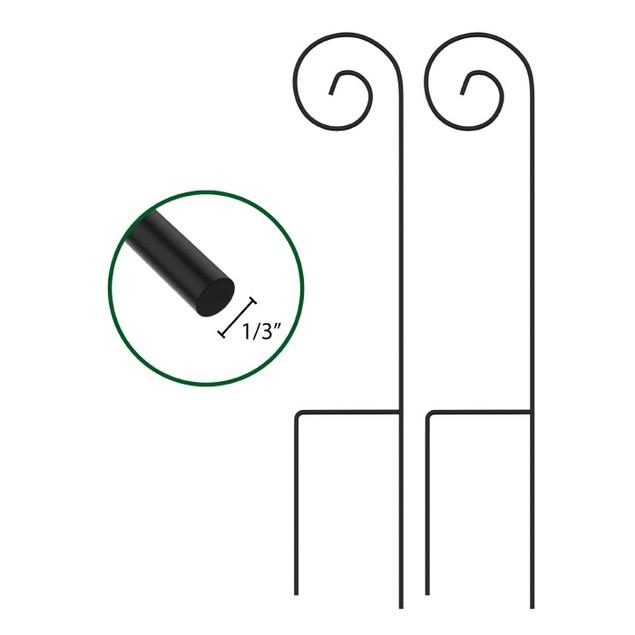 Shepherd Hooks-Set of 2-Metal Pole with Hooks 35 in.