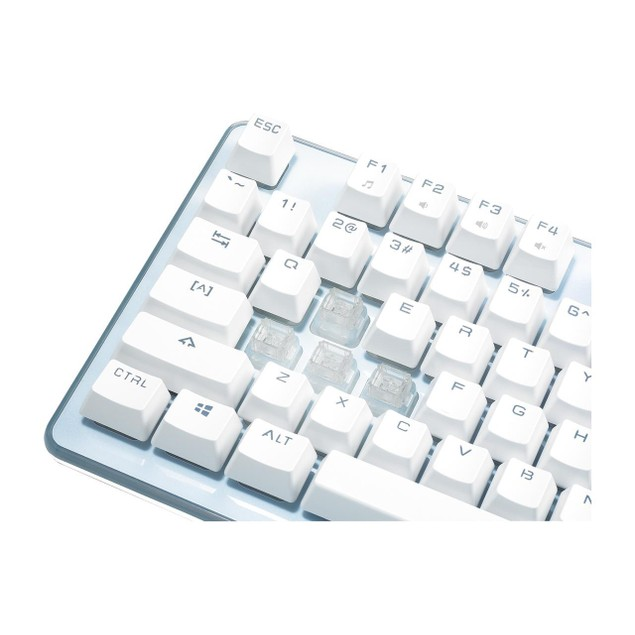 ROSEWILL NEON K51 - Hybrid Mechanical RGB Gaming Keyboard Backlit Keyboard - White