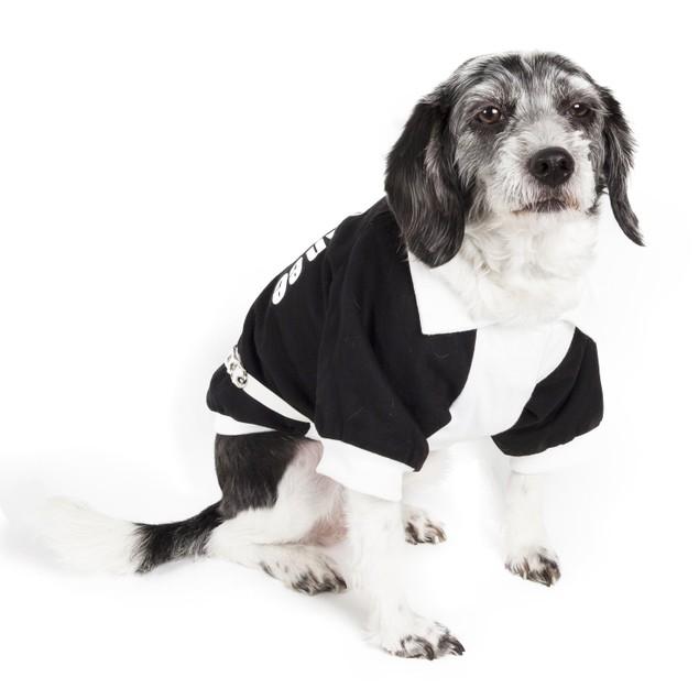 Varsity-Barkcity Buckled Collared Pet Coat
