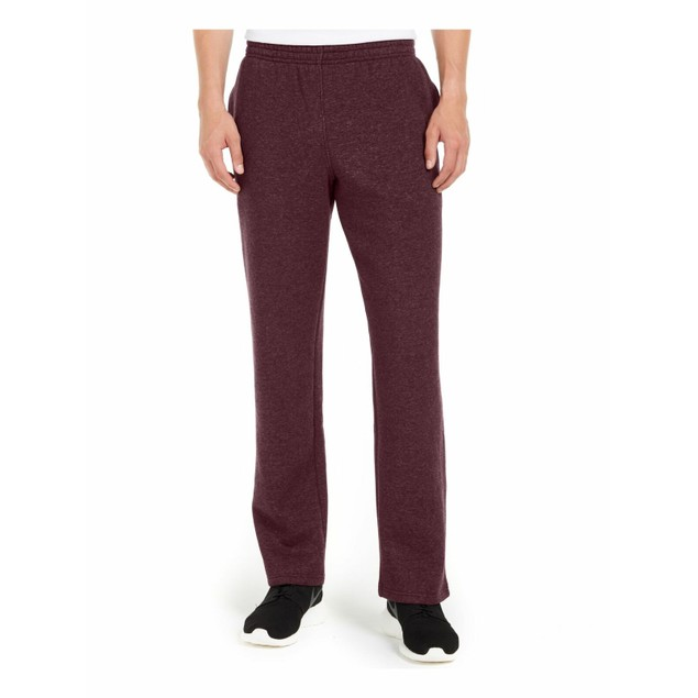 Ideology Men's Open-Hem Fleece Sweatpants Port Size Large