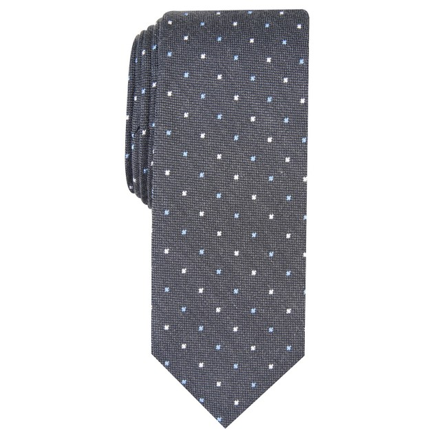 Bar III Men's Lindon Dot Tie Gray Size Regular