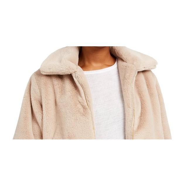 Say What? Juniors' Faux-Fur Jacket Brown Size Medium