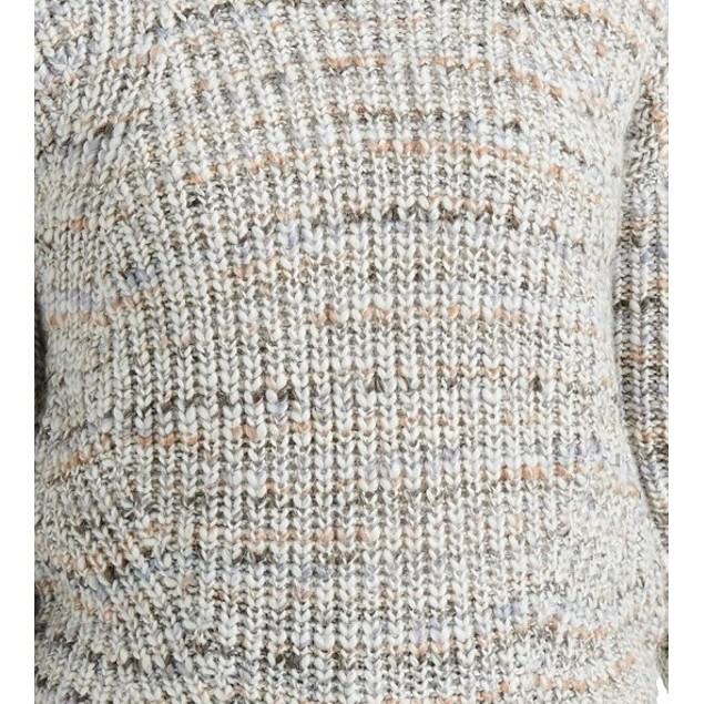 Lukcy Brand Women's Marled Crew Neck Sweater Gray Size Medium
