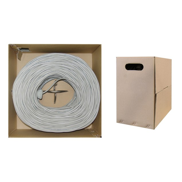 Bulk Cat5e Gray Ethernet Cable, Solid, UTP Pullbox
