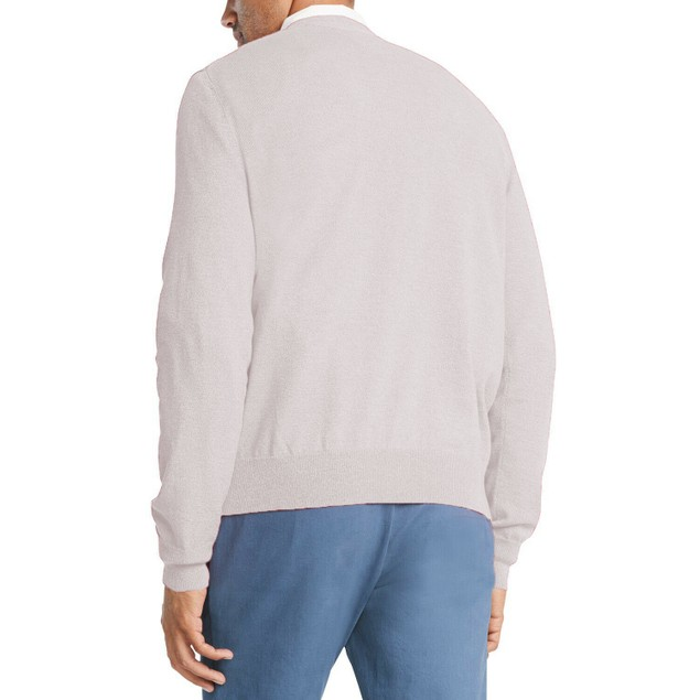 Tommy Hilfiger Signature Regular-Fit Solid V-Neck White Extra Small
