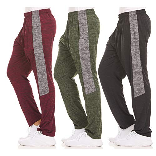 Dri-Fit Pant 3 Pack-Moisture Wicking, High Performance, Comfy Spandex-Poly Blend