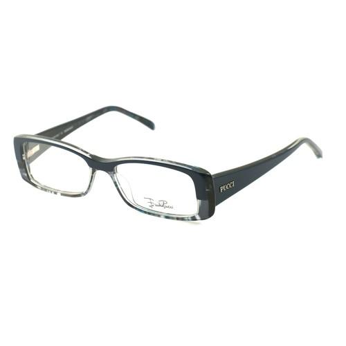 Emilio Pucci Women Eyeglasses EP2651 403 Navy 50 15 135 Full Rim Rectangle