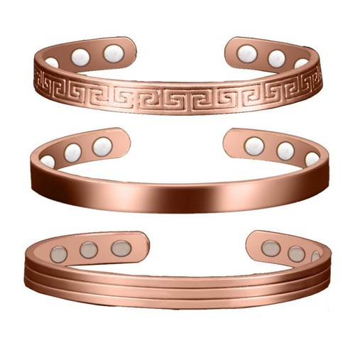 Unisex Copper Magnetic Bracelet for Positive Energy