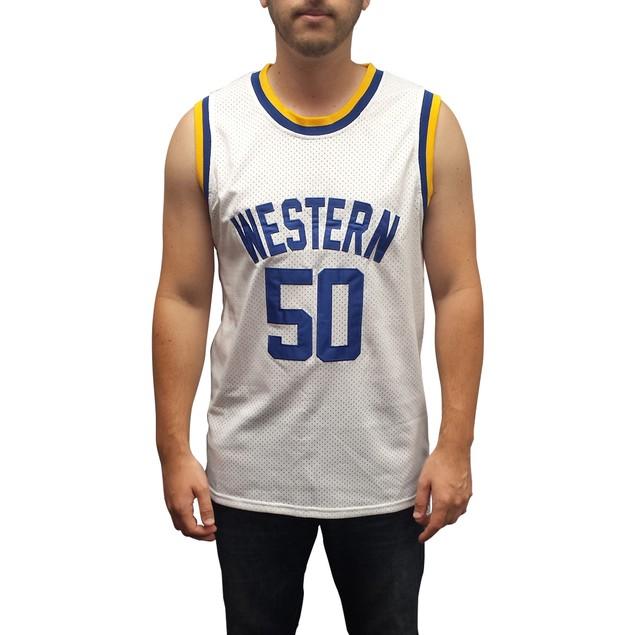 Neon Boudeaux #50 Western White Basketball Jersey