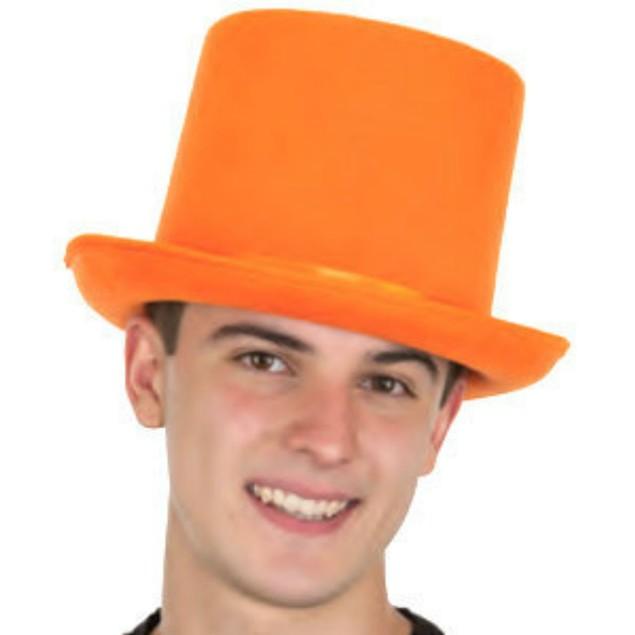 Orange Felt Top Hat With Satin Band Dumb And Dumber Tuxedo Costume Movie