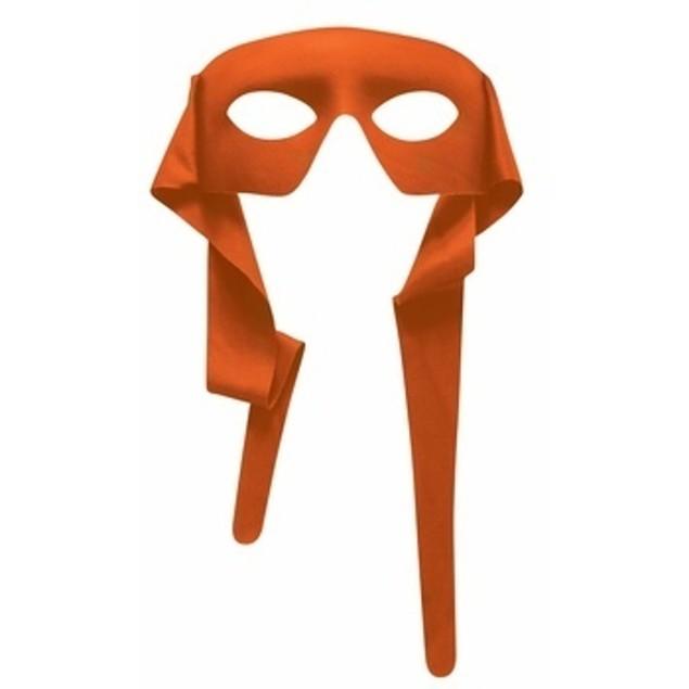 Orange Eye Mask With Ties