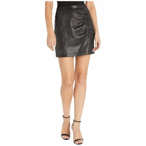 Free People Juniors' Rumi Ruched Mini Skirt Black Size Medium