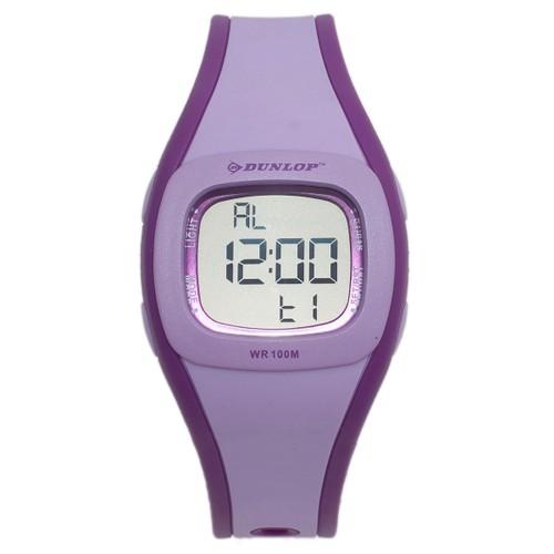 Dunlop Digital Watch for Girls Digital Multi-Function Purple/Lavander Rubber Quartz