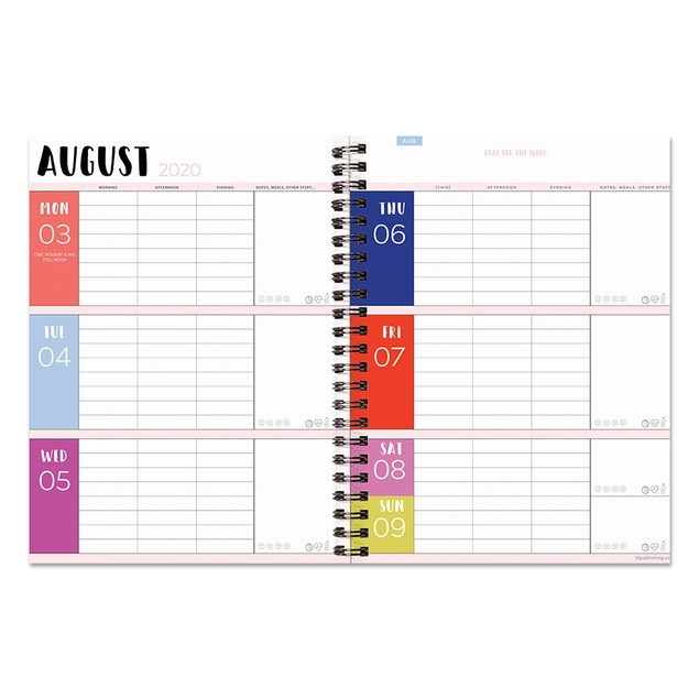 July 2020 - June 2021 Bold Medium Daily Weekly Monthly Planners