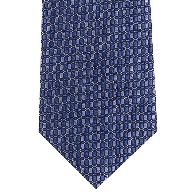 Michael Kors Men's Small Optical Geometric Tie Blue Size Regular
