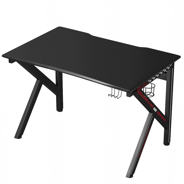 Gaming Desk Gamers Computer Table E-Sports K-Shaped W/ Cup Holder