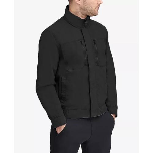 Marc New York Men's Hooded Bomber Jacket Black Size Small