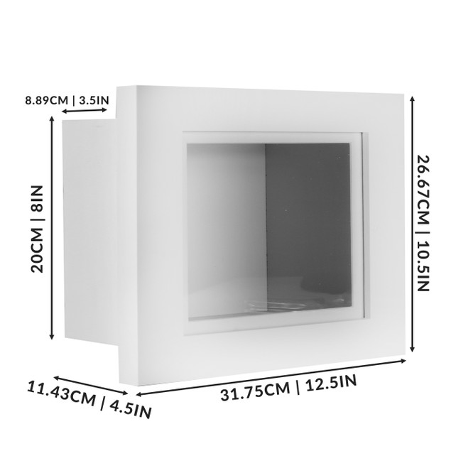 "3D Box Frame | MandW White 10"" x 8"""