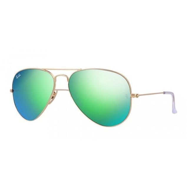 Ray-Ban Aviator Green Flash Sunglasses - RB3025-112/19-62