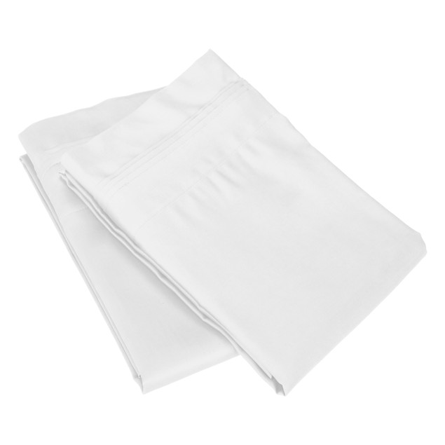 Solid Egyptian Cotton Pillowcase Set by Blue Nile Mills