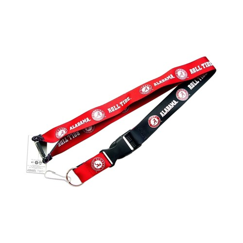 Alabama Crimson Tide A Reversible Clip Lanyard Keychain Id Ticket Holder