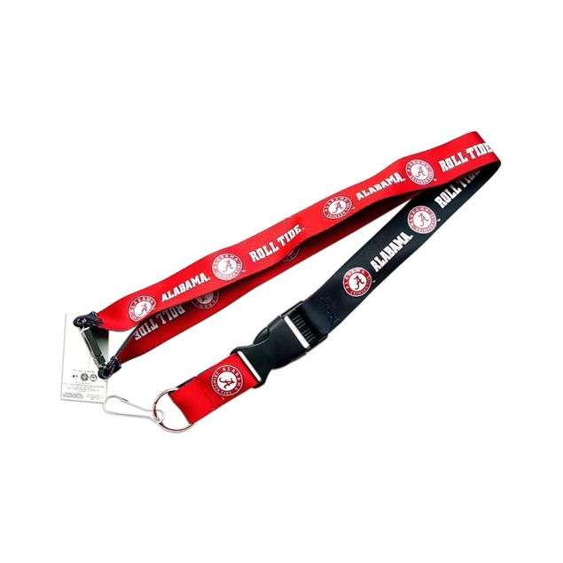 Alabama Crimson Tide A Reversible Clip Lanyard Keychain Id Ticket Holder
