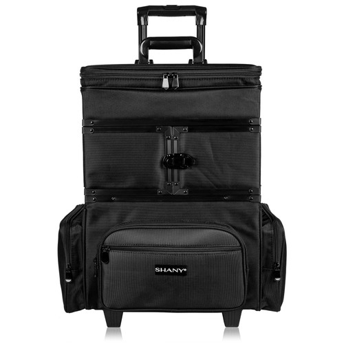 SHANY Large Travel Makeup Trolley Case - BLACK