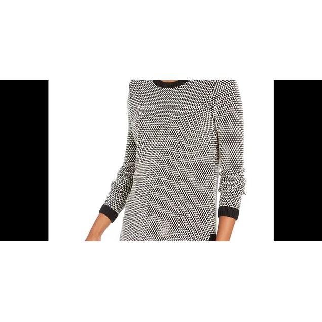 Charter Club Women's Textured Knit Sweater Dark Gray Size Petite Small