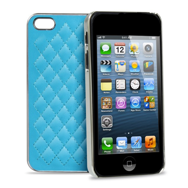 Soft Synthetic Leather Back Case Cover for iPhone 5
