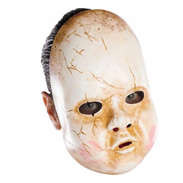 Baby Doll Mask Scary Vinyl Costume Halloween Adult Accessory Creepy